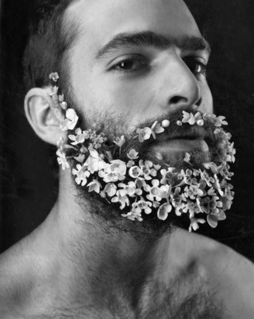 flowers beard trend