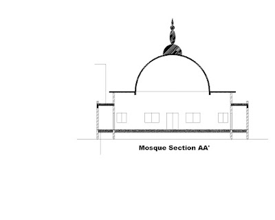 Cross Section of the Mosque