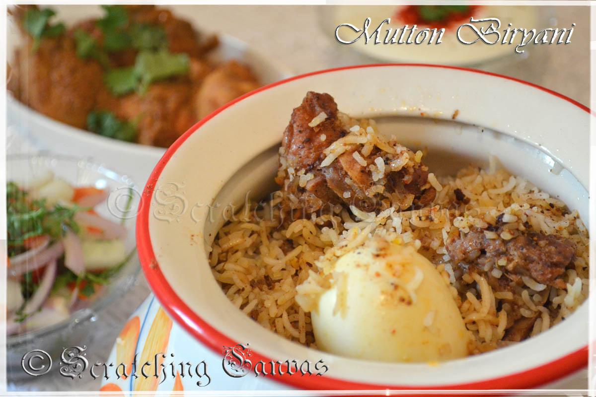 Kolkata Style Mutton Biryani Step By Step Recipe