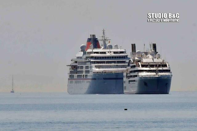 Δύο κρουαζιεροπλοια σήμερα στο Ναύπλιο με 870 επιβάτες