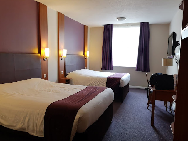 Twin room at the Premier Inn, County Hall