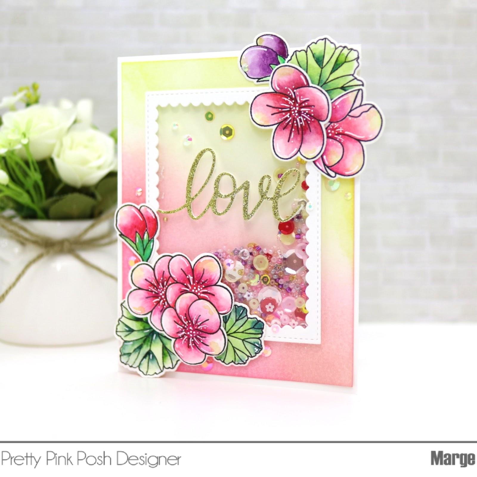 Marge Crafts Pretty Pink Posh Geranium Cards