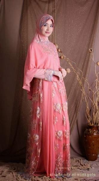 Model gaun kebaya pengantin muslim syar'i