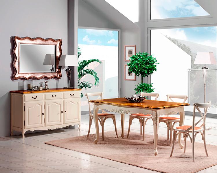 Muebles de comedor comedores clasicos blancos for Muebles comedor clasicos