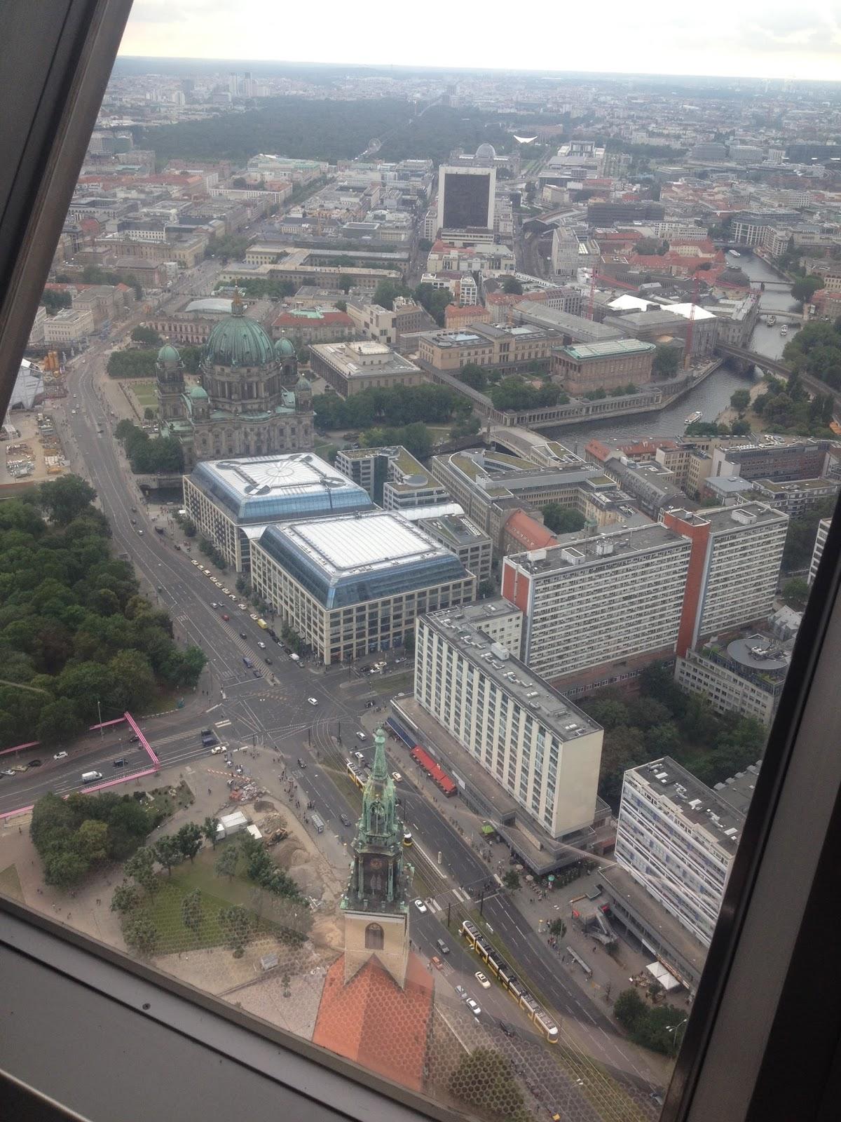 Berlín - výhled z televizní věže stojí za to
