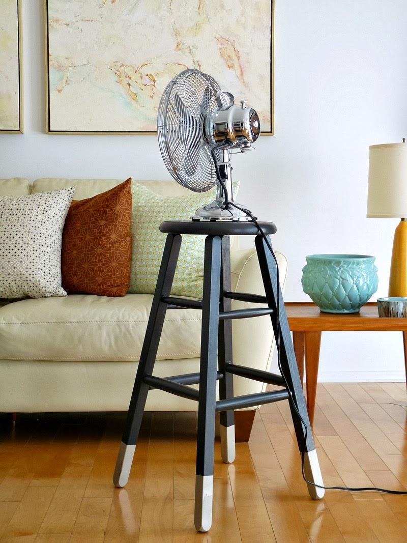 Dipped leg stool