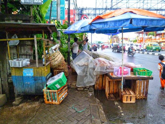 Algunas aceras de Yakarta