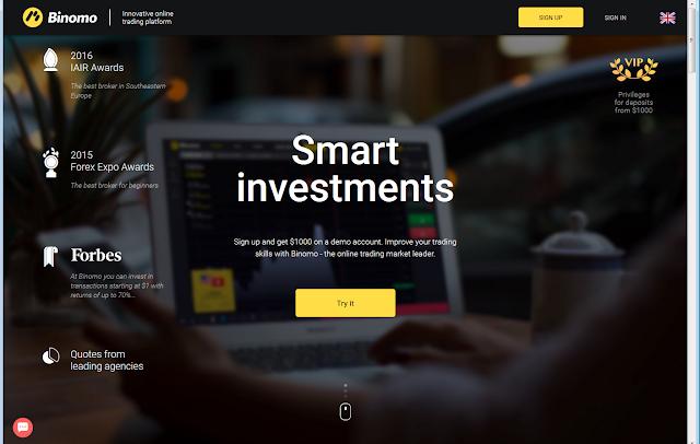 Broker's website