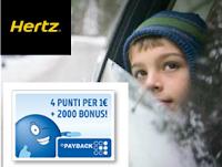 Logo Hertz: noleggia la tua auto e ricevi 2.000 punti PayBack + 4 punti per ogni € speso