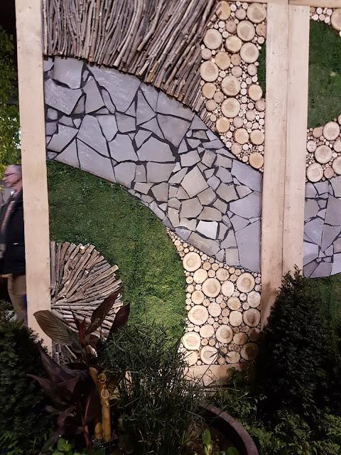 wallscape at Canada Blooms display