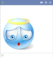 Blue Angel Smiley For Facebook Chat