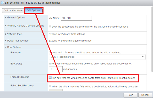 VMWare: Entrar BIOS maquina virtual
