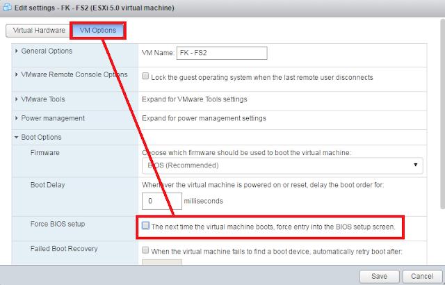 VMWare: Entrar BIOS maquina virtual