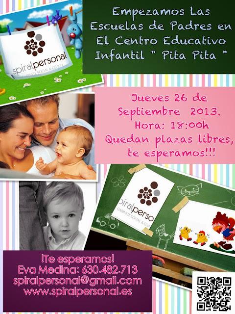 Empezamos Las Escuelas de Padres en el Centro de Educación Infantil Pita Pita