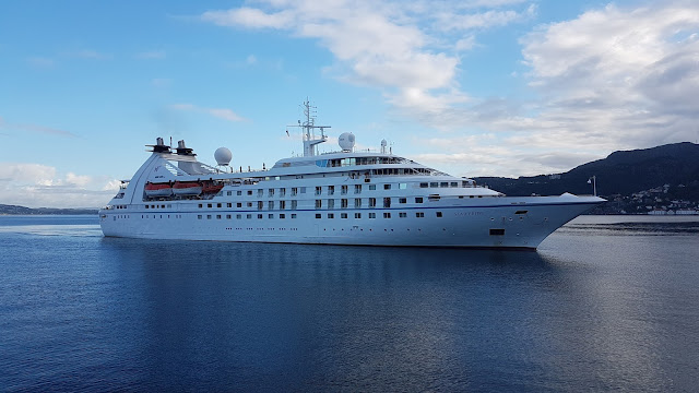 Cruise ship Star Pride in Bergen, Norway; Windstar Cruises