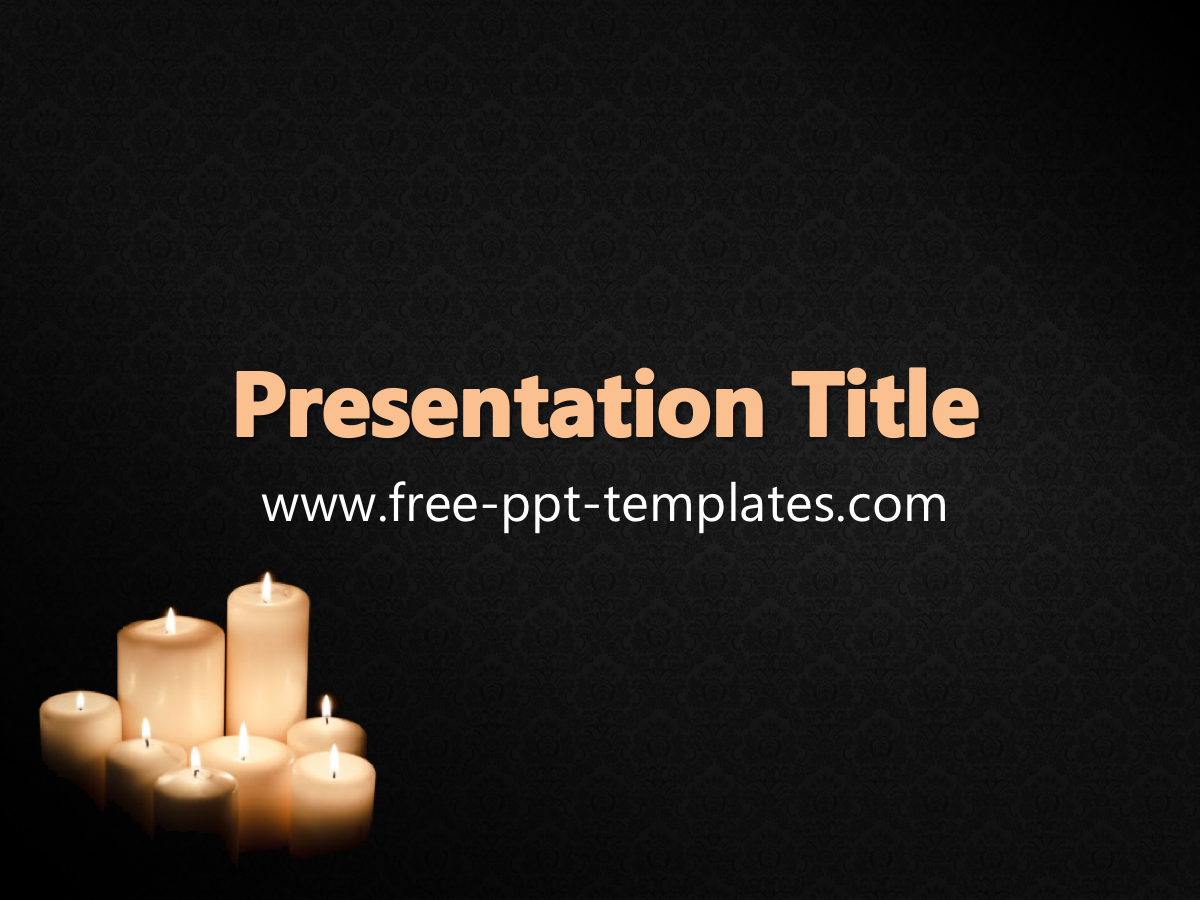 Powerpoint template for funeral free funeral flower ppt template toneelgroepblik Images
