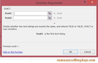 function argument rumus EXACT