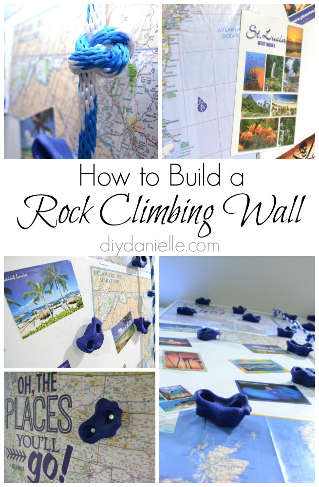 how to build an indoor rock climbing wall