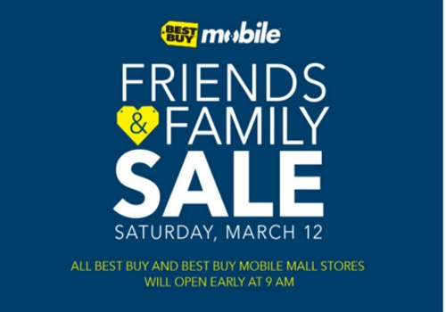 Best Buy Mobile Friends & Family Sale