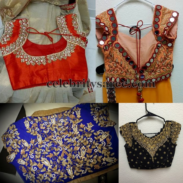 Mirrors And Kundan Work Blouses By Mugdha Saree Blouse