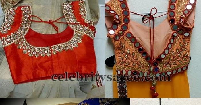 Mirrors And Kundan Work Blouses By Mugdha Saree Blouse