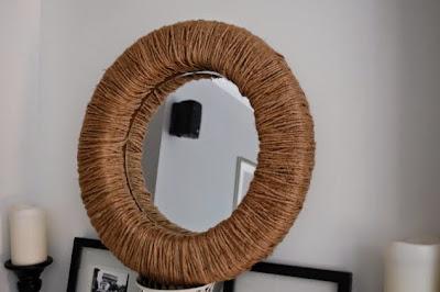 Espejo diy con hilo