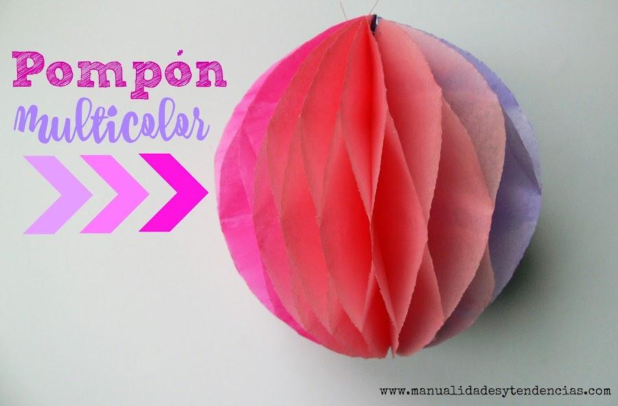 Cómo hacer pompones con papel de seda