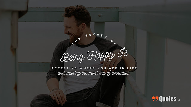 secret quote to live happy