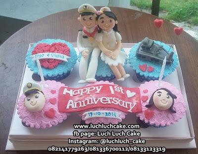 Cupcake Anniversary Tema Suster dan Pelaut