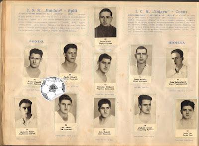 Hajduk Split album sličice Sonda 1931-32