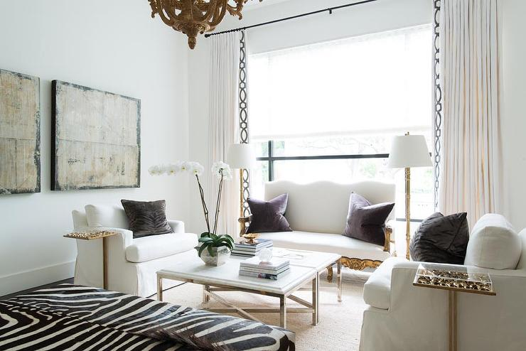 design-trends-velvet-pillows white couches chic living room
