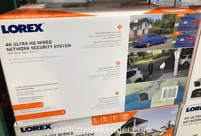 Costco 1163871 - Lorex 4K Ultra HD Wired Security System with Color Night Vision: scare off would-be criminals with the Lorex 4K Ultra HD Wired Security System