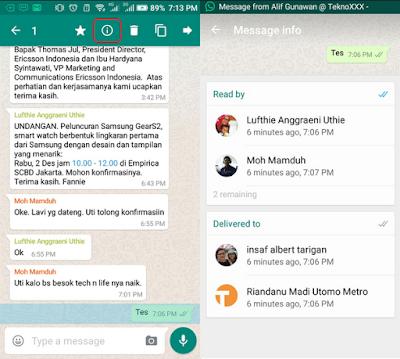 Cara memeriksa siapa yang telah melihat pesan Chat Anda di dalam obrolan grup WhatsApp