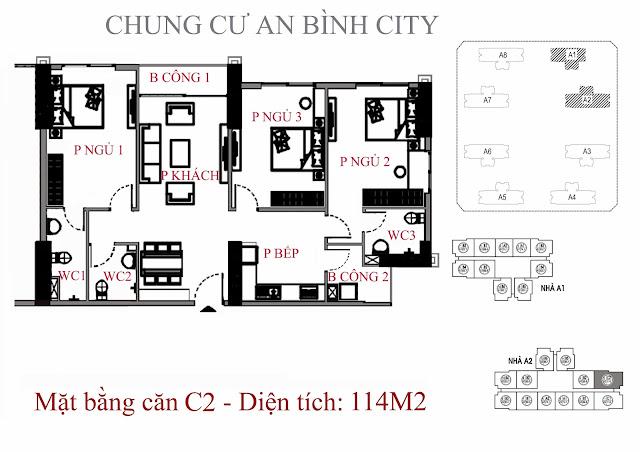 Căn C2 114m An Bình City