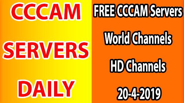 FREE CCCAM Servers World Channels +Sport HD Channels 20-4-2019