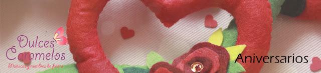 regalos romanticos fieltro dulces caramelos