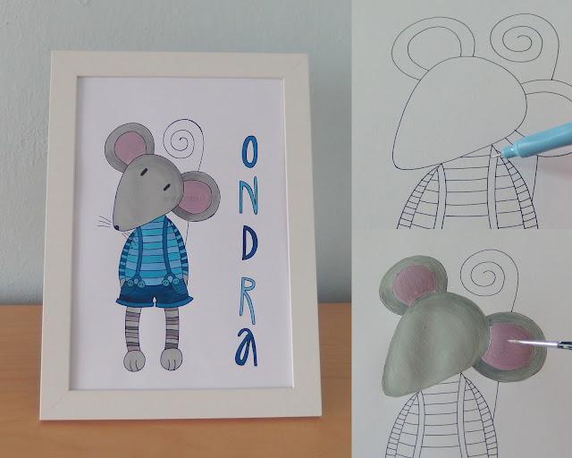obrázky pro děti myš