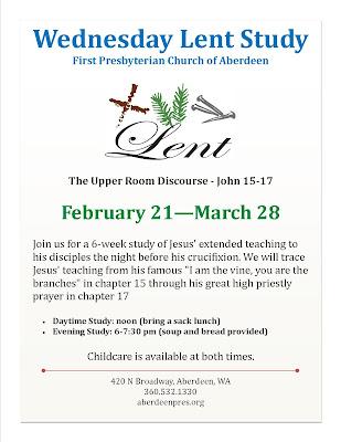 Wednesday Lent Study 2018