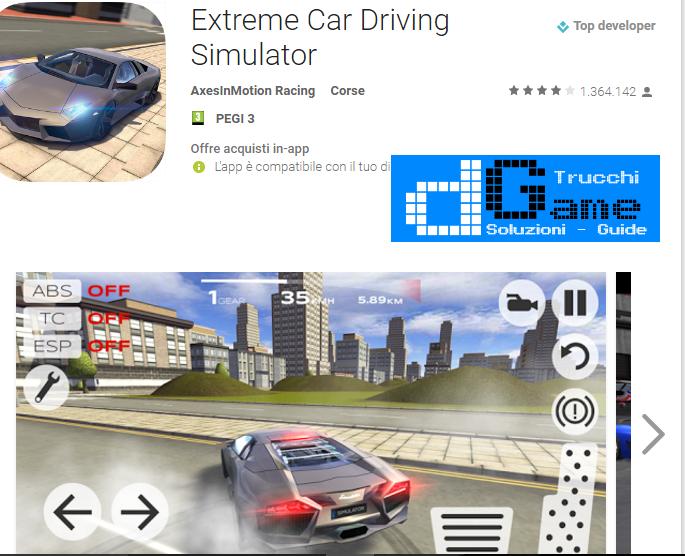 Trucchi Extreme Car Driving Simulator Mod Apk Android v4.12