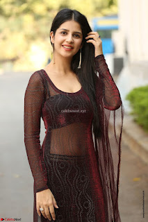 Kashish Vohra looks Beautiful Cute and Innocent beauty in Brown Transparent Velvet Gown ~ Exclusive 005