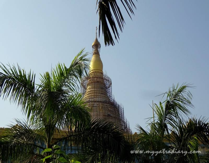 Beyond the Dhamma Pattana residential quarters - Global Vipassana Gorai Pagoda, Mumbai