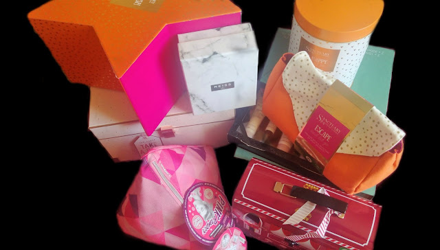 A selection of gift sets from Boots Stores Christmas range