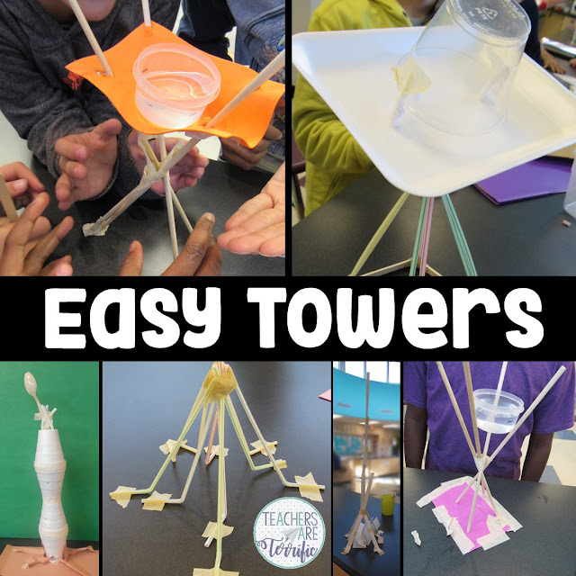 STEM Challenge: Some easy tower ideas and even more tips for the busy month of September! Check this blog post for your tips!