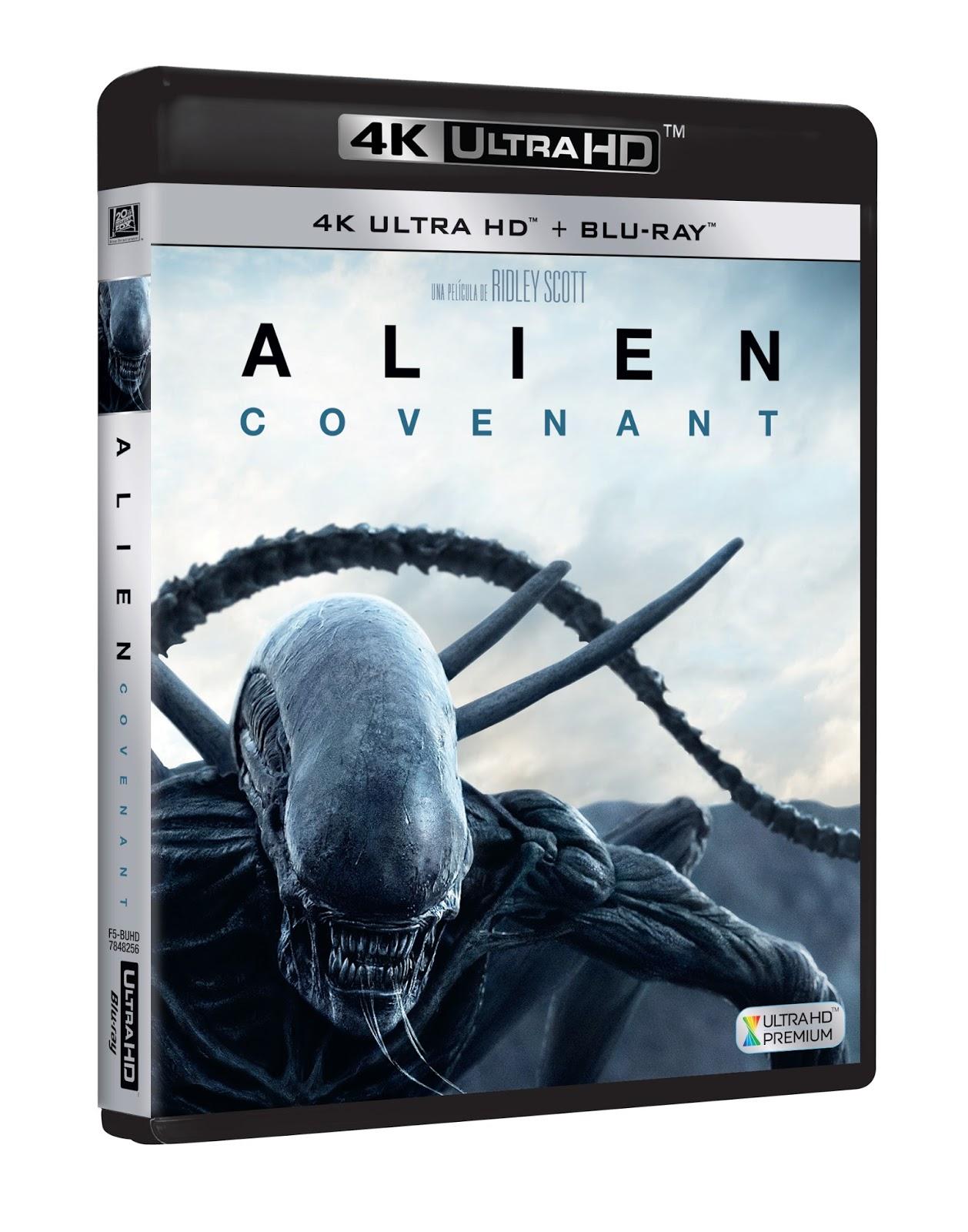 Alien Covenant llegará el 13 de septiembre en DVD, Blu-ray y 4k, más de 90 minutos de extras