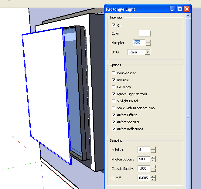 Vray For Sketchup Lighting & How To Manage Intensity And Shadows