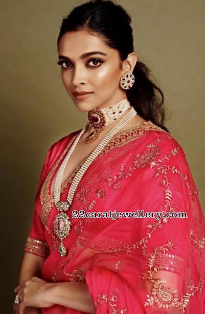Deepika Padukone Victorian jewellery