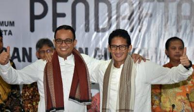 Anies-Sandiaga Bentuk Gerakan Rp50 Ribu untuk Kampanye