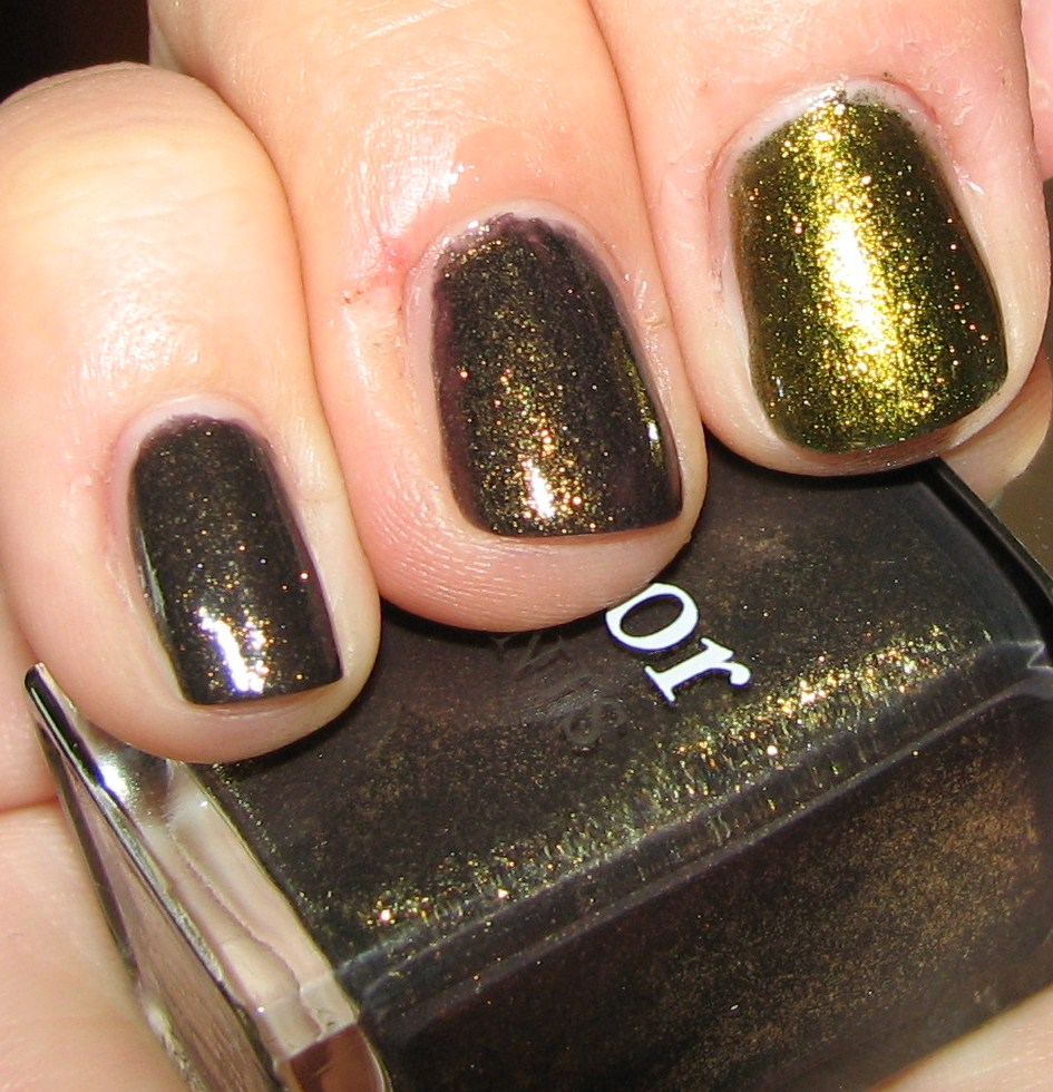 L Oreal Owl S Night Nail Polish Comparison To Dior Czarina Gold And Butter London Wallis
