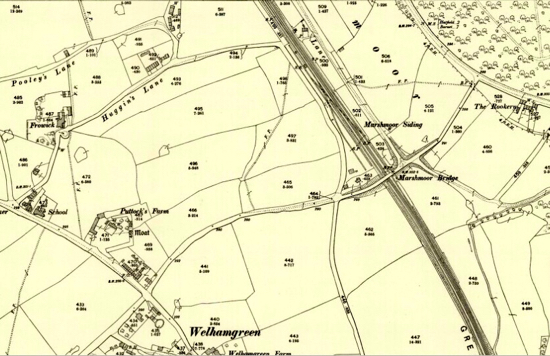 Ordnance Survey map of Marshmoor 1898  Image courtesy of the National Library of Scotland, released under Creative Commons