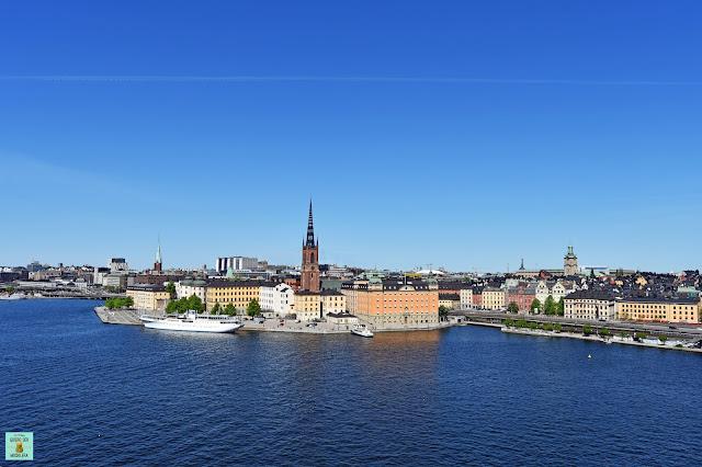 Vistas desde Mariaberget en Södermalm, Estocolmo